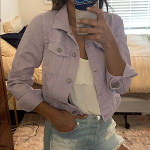 Free People Lavender denim jacket